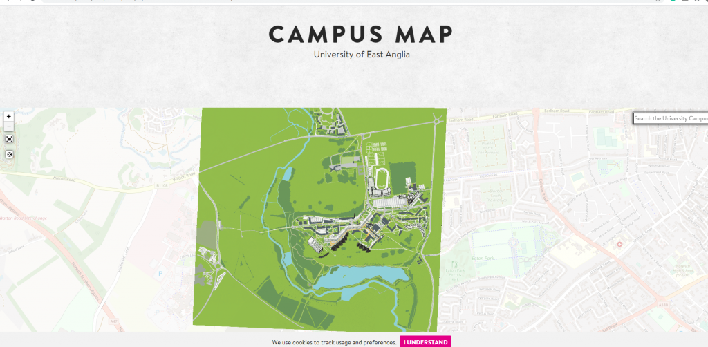 Map of Norwich University of East Anglia