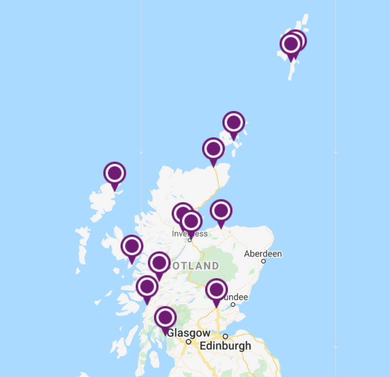 Campuses of the University of the Highlands and Islands