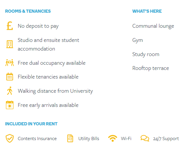 Student Roost Features